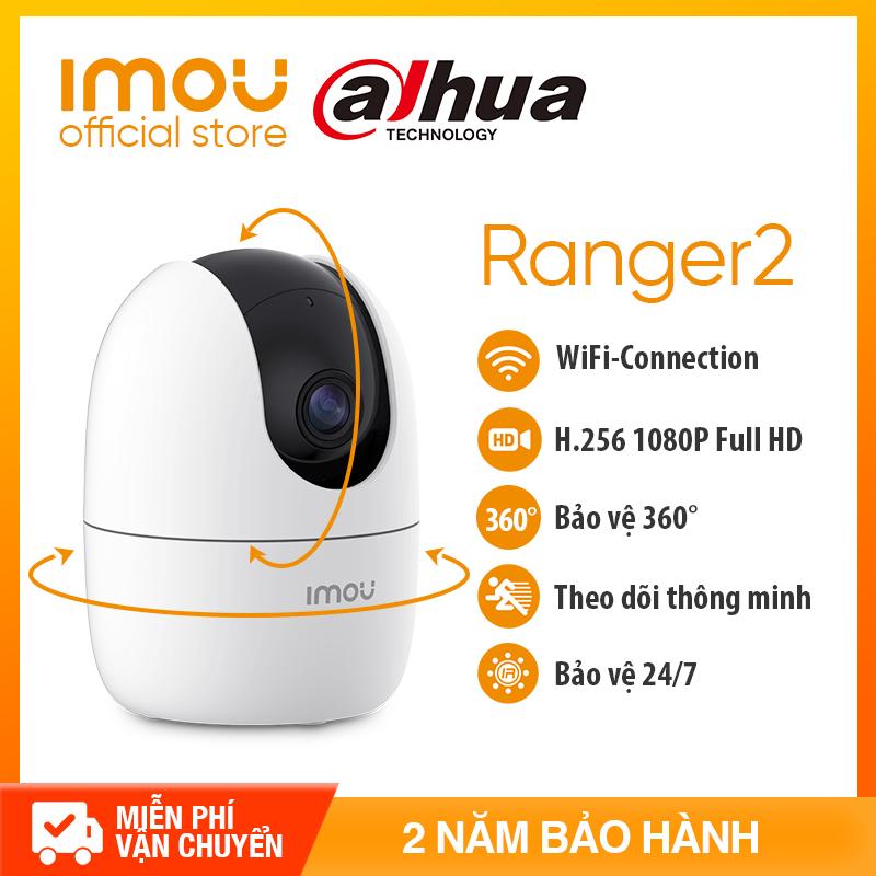 DAHUA Camera IP WIFI IMOU RANGER2 A22EP – FULL HD 1080P - Chuẩn nén H.265 - Hỗ trợ thẻ nhớ lên đến 256GB + Lưu trữ đám mây + Kết nối đầu ghi - Bảo hành chính hãng 2 năm