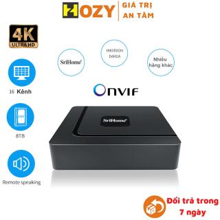 Đầu ghi hình camera IP 16 kênh 8MP 4K Srihome dùng cho camera IP dahua, imou, hikvision,Yoosee ,Onvif ,hỗ trợ ổ cứng 8TB, hỗ trợ míc thu âm thanh, mã đầu ghi srihome NVS003 thumbnail