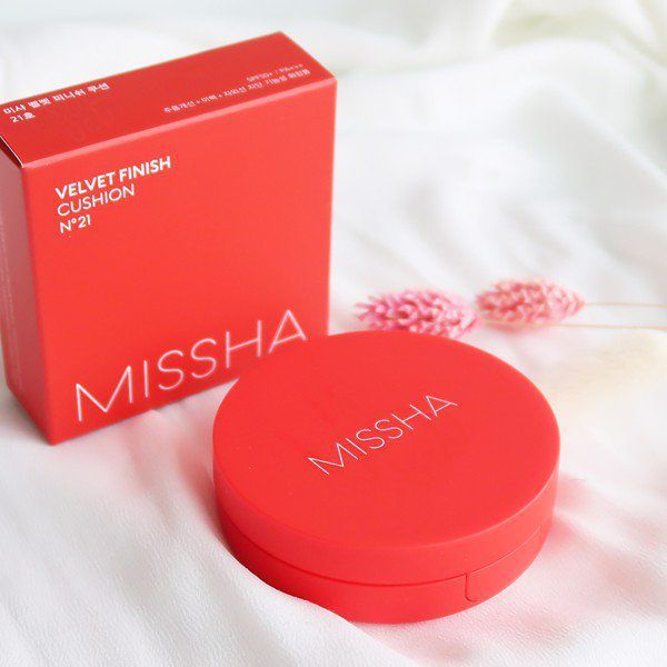 Phấn Nước Missha Velvet Finish Cushion SPF50+ PA+++ kiềm dầu  15g lyo cao cấp