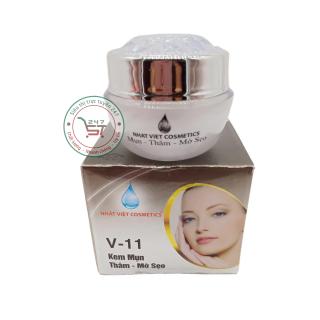 Kem Mụn - Thâm - Mờ sẹo Ngọc Trai Đen - Sữa Ong Chúa Nhật Việt V11 16g (Xám) thumbnail