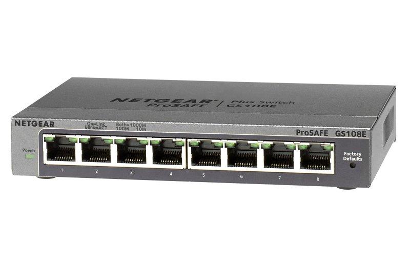 Bảng giá Bộ Thiết Bị Chia Mạng  8 Cổng Switch NETGEAR GS108E  8 Port Gigabit Ethernet Smart Managed Plus Switch Phong Vũ