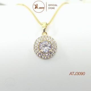 Dây chuyền bạc 925 mặt hình hoa tròn đính đá siêu sáng lấp lánh Jewelry - ATJ3090 thumbnail