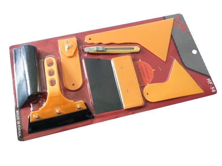 Trọn Bộ 7 món dụng cụ,tấm,miếng,tấm hỗ trợ ,dao nhựa hỗ trợ dán phim,decal trang trí xe, miếng dán cường lực điện thoại, laptop, cạo, tháo decal cũ_RX30