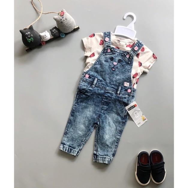 Yếm jean dài ergee bé gái, sản phẩm đang được săn đón, chất lượng đảm bảo và cam kết hàng đúng như mô tả giá rẻ