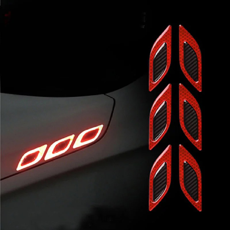 Bộ 6 miếng phản quang trang trí xe máy, ô tô
