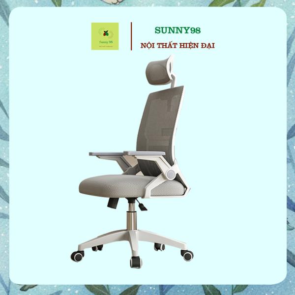 Ghế xoay văn phòng cao cấp Ghế giám đốc lưng lưới điều chỉnh độ cao có tựa lưng tựa đầu, ghế ngồi làm việc, chơi game, thư giãn , Sunny98 Shop giá rẻ