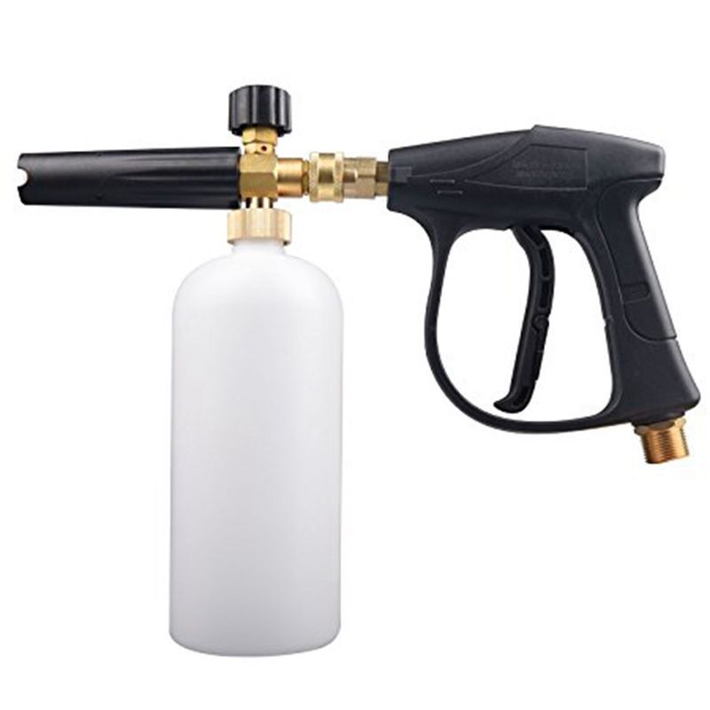 1L Car Wash Pressure Washer Jet Wash Quick Release Adjustable Snow Foam Lance Foam Cannon tools