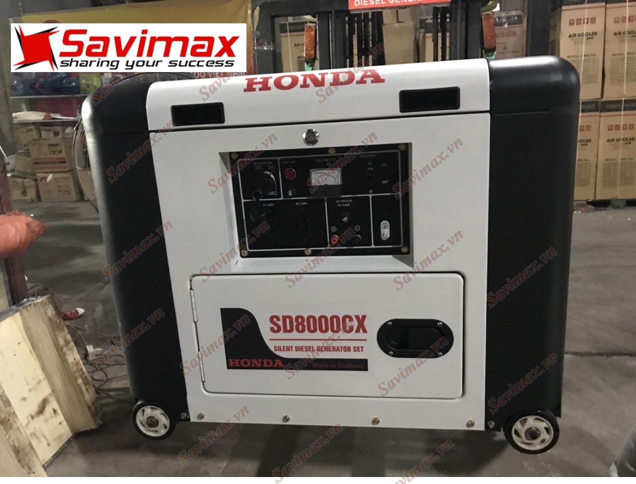 Máy phát điện Honda SD8000CX (5.5kw, chạy dầu, đề nổ, vỏ chống ồn)