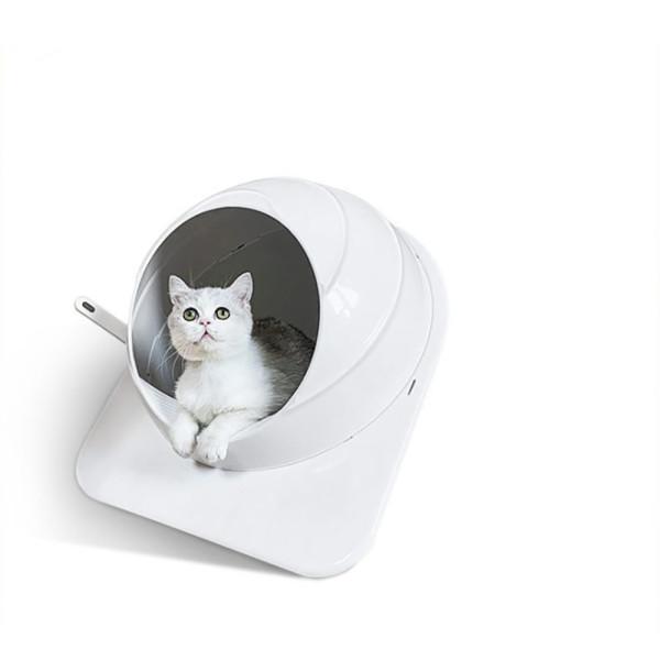 Space Capsule Pet Cat Litter Box Large Fully Enclosed Cat Toilet Deodorant And Splash-proof Plastic Cat Litter Box Cat Supplies