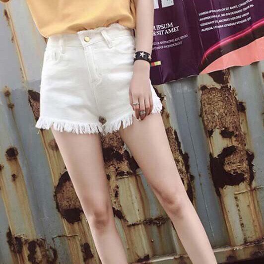 Quần Jean nữ Kaki trơn vải dày mịn ôm dáng co giãn ít  xinh yêu (Free size dưới 52kg ) màu đen - trắng