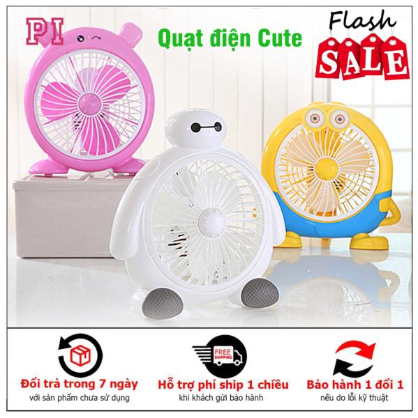 Quạt điện để bàn Misushita Cute nhiều tốc độ gió quạt siêu mát quạt mini hình thú cắm điện để bàn tiết kiệm diện tích