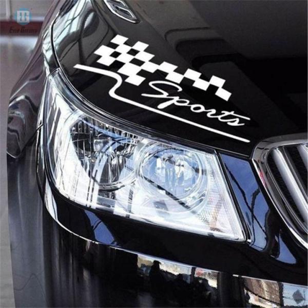 Tem dán trang trí ô tô, decal dán trang trí ô tô Sport, tem dán sườn xe tạo dáng xe thể thao, hấp dẫn