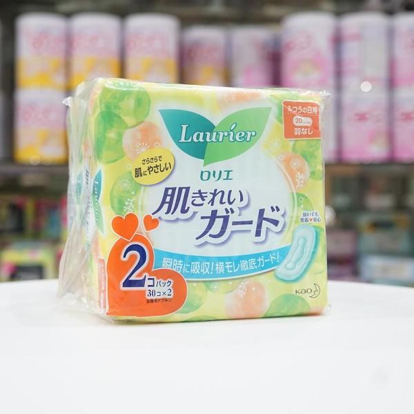 băng vệ sinh ngày Laurier không cánh (30 miếng/gói) 30cm nội địa Nhật giá rẻ