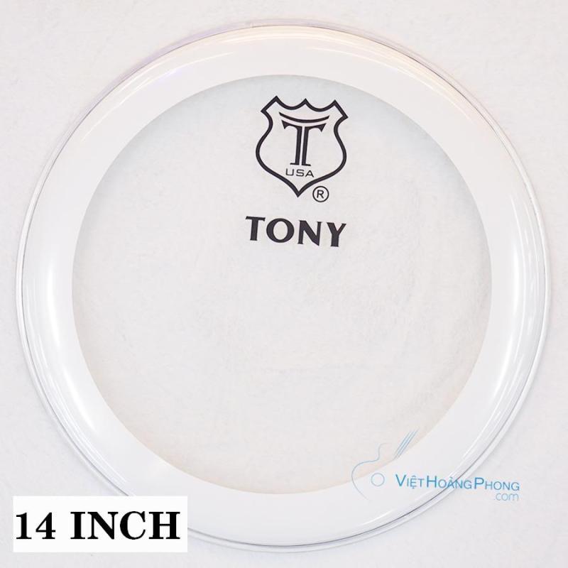 Mặt trống Jazz - Trống Da TONY thương hiệu USA (Viền Trắng) - Việt Hoàng Phong