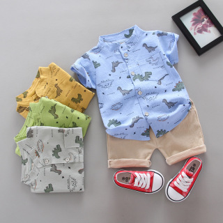 MH13 Bộ áo sơmi, quần short công tử siêu chất siêu ngầu cho bé thumbnail