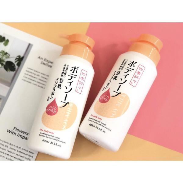 Sữa tắm dưỡng ẩm sữa đậu nành Soy Milk The Body Soap 600ml nhập khẩu
