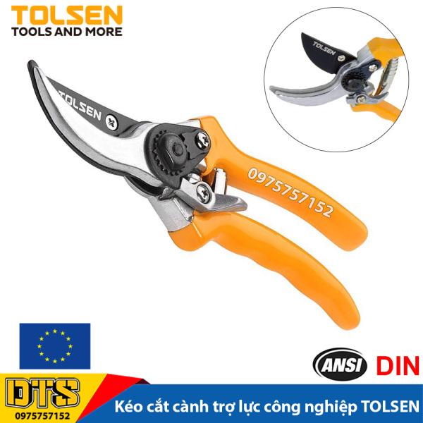 Kéo cắt cành trợ lực công nghiệp TOLSEN 200mm, lưỡi thép SK5 siêu sắc, kéo làm vườn chuyên nghiệp, thiết kế ưu việt chỉnh độ rộng miệng kéo - Tiêu chuẩn xuất khẩu Châu Âu