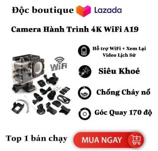 ( SALE SỐC ) Camera hành trình 4K wifi A19 giá rẻ, bảo hành chính hãng Camera Hành Trình A19 FullBox- Full HD 1080p CAMERA A19 4K CÓ REMOTE FULL BOx Camera hành trình gắn mũ bảo hiểm A19 4K wifi - Full HD Camera hành trình xe máy- BH 12 THÁNG thumbnail