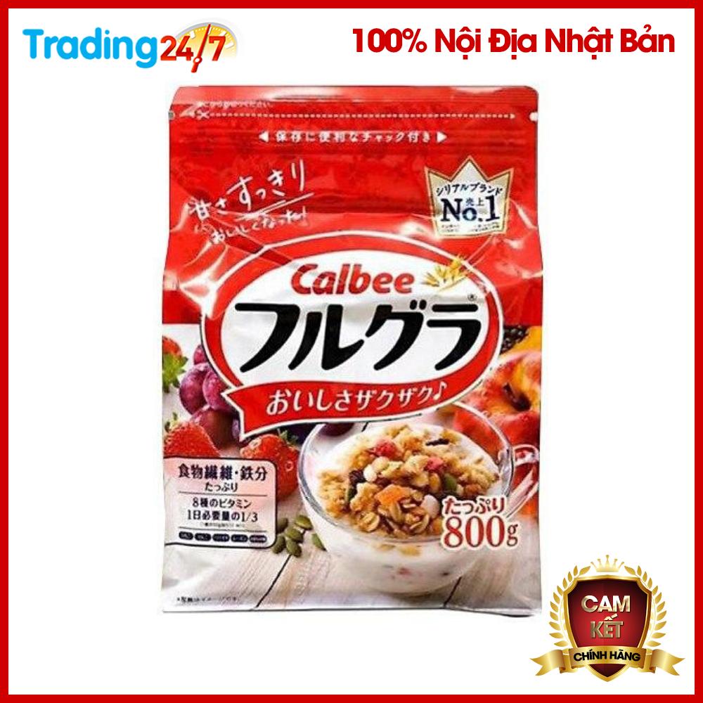 Ngũ Cốc Trái Cây Calbee Màu đỏ Gói 800g - Nhật Bản Hương Vị Thơm Ngon Hấp Dẫn [HSD T11/2020] Giá Hot Siêu Giảm tại Lazada
