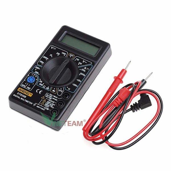 Đồng hồ đo điện Volt Ohm Amp AC/DC đa năng Digital Multimeter DT-830B cho thợ điện tử thiết kế nhỏ gọn dễ sử dụng chi phí thấp