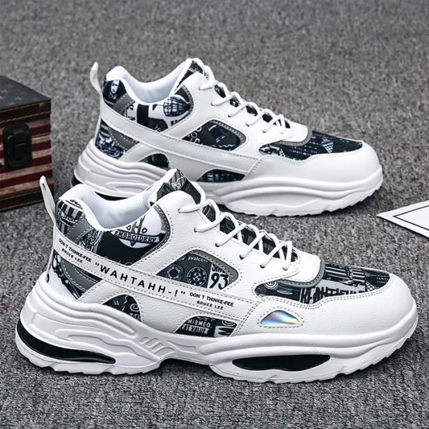 Giày Thể Thao Nam Sneaker Tăng 5Cm Chiều Cao, Đế Tổng Hợp Độ Bền Cao, Kiểu Dáng Cá Tính Cực Ngầu, Xu Hướng Phản Quang giá rẻ