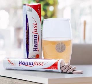 Viên sủi Hamofast hỗ trợ giảm Cholesterol máu, giảm nguy cơ mắc bệnh tim mạch - Hộp 20 viên thumbnail
