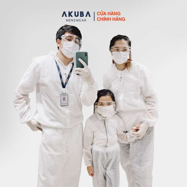 Bộ đồ bảo hộ y tế chống dịch AKUBA vải không dệt, kháng khuẩn phong cách thời trang