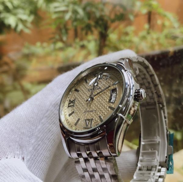 đồng hồ nam O.M.GA automatic mặt kính cong sang trọng bán chạy