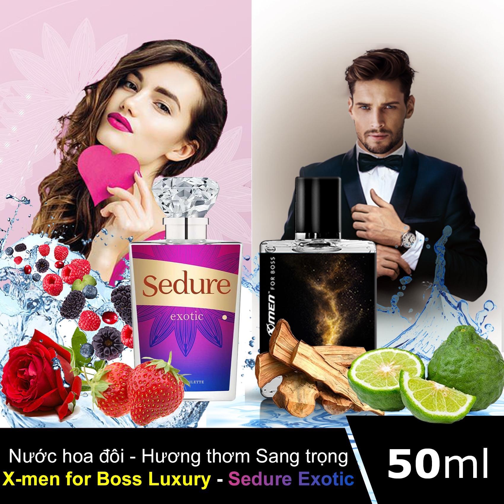 Nước hoa đôi: Xmen for Boss Luxury + Sedure Exotic - Hương thơm Sang Trọng