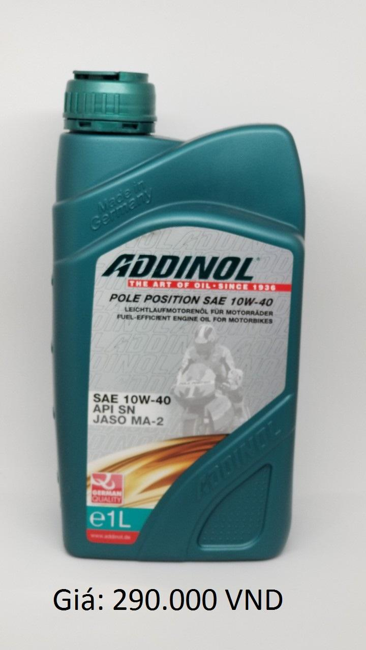 Deal tại Lazada cho NHỚT ADDINOIL 10W40 S(N)- XE SỐ- MOTO (Chai)