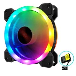 Quạt Tản Nhiệt Fan Case Led RGB M4 - Tự Động Đổi Màu Không Cần Hub thumbnail