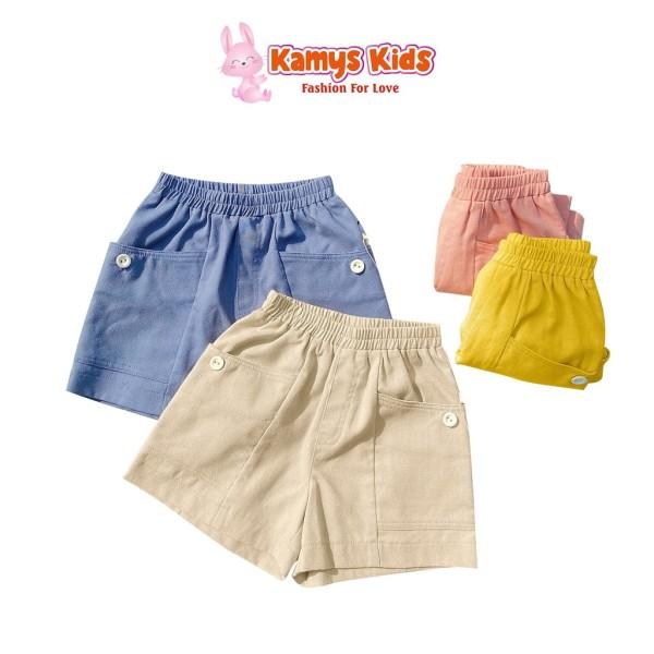 Giá bán Quần Đùi Túi Sườn Trẻ Em Kamys Kids Nhiều Màu Cho Bé Trai Bé Gái 10-23Kg