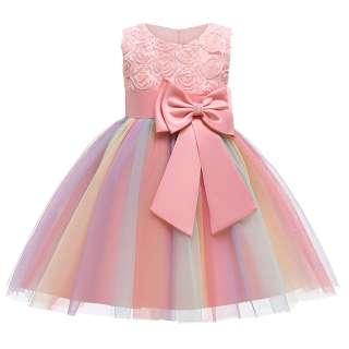 Miễn Phí Vận Chuyển + Quà Tặng Miễn Phí UlyssesAl Đầm Hoa Công Chúa Phù Dâu Cho Bé Gái Váy Cưới Tiệc Sinh Nhật, Đầm Công Chúa Trẻ Em Bé Gái Bộ Váy Cotton Mặc Trang Phục Sinh Nhật Cho Trẻ Tập Đi Dài Denim