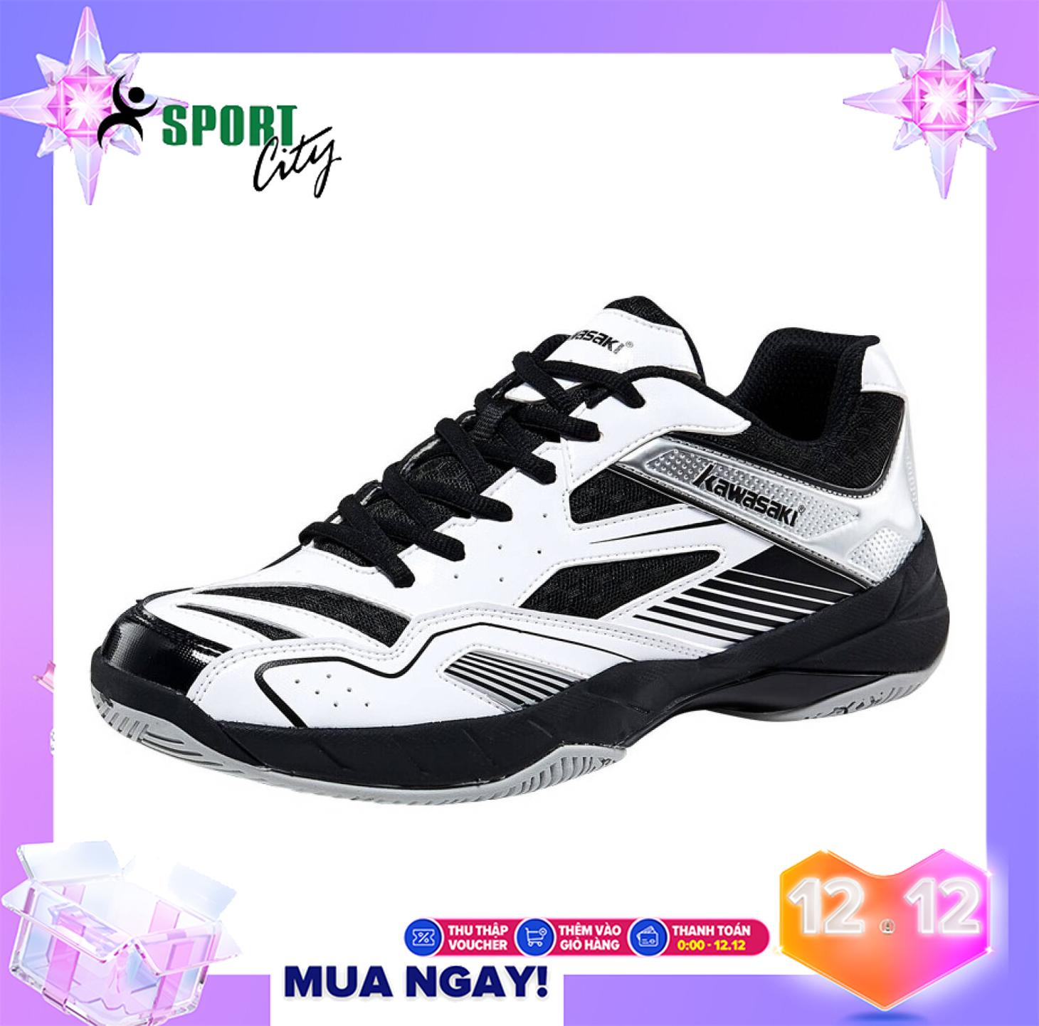 Giày thể thao nam cầu lông Kawasaki K159 chuyên nghiệp, màu xanh và màu trắng , Bảo hành toàn quốc , bền và êm chân - Giày bóng chuyền Kawasaki