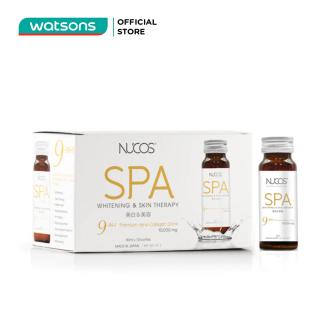 Thực Phẩm Bảo Vệ Sức Khỏe Nucos Spa 10,000mg Whitening & Skin Therapy Giảm Lão Hóa Da 50ml x 10 Chai thumbnail
