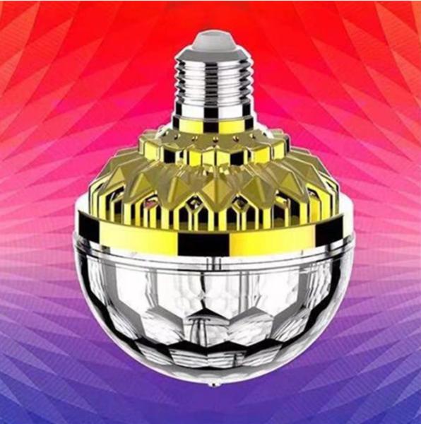 Bóng đèn led xoay 360 pha lê 7 màu vũ trường( loại tốt)