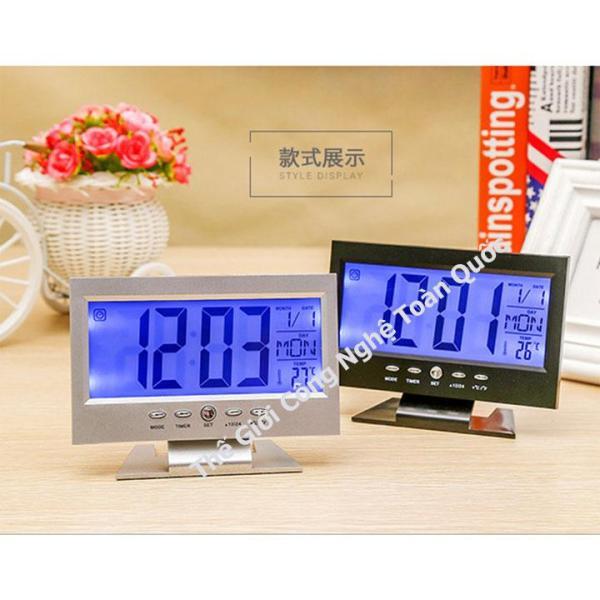 Đồng hồ để bàn - nhiệt kế điện tử phòng - Đồng Hồ Để Bàn LED LCD Báo Thức Thời Tiết  tặng kèm pin bán chạy