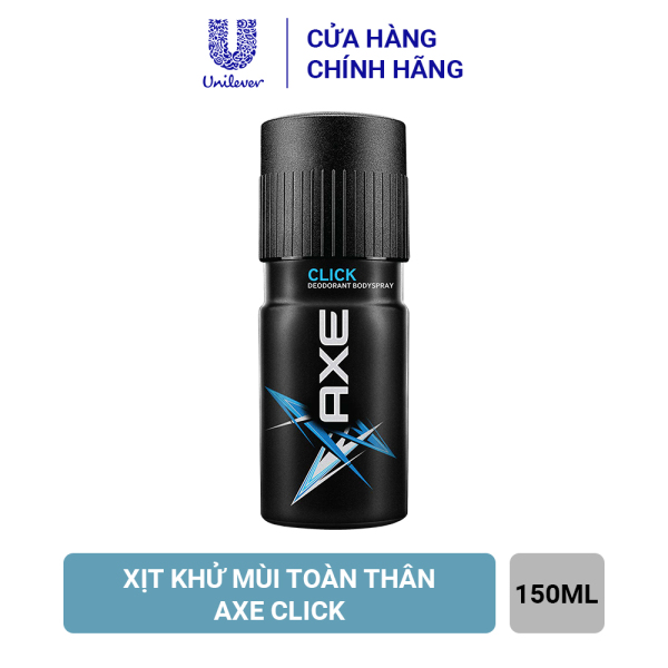 Axe Xịt Ngăn Mùi Toàn Thân Click (150ml) giá rẻ