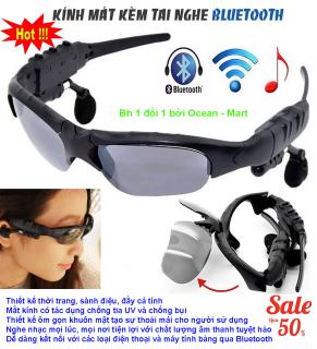 Kính Râm Thời Trang Tích Hợp Tính Năng Hiện Đại - Mắt kính Bluetooth 4.1 SIÊU thông minh - mk4.1- Kính Râm Nghe Nhạc Hàng HOT Siêu Độc thumbnail