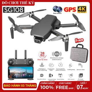 Máy bay flycam SG108 5G Wifi FPV 4K HD Camera Kép Có cảm biến bụng hỗ trợ chống rung ELS bay 25 phút thumbnail