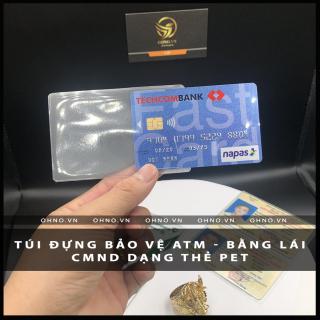 BAO đựng CAO cấp SU hào chống trầy xước thẻ căn cước CMND , ATM, Bằng lái xe , Thẻ sinh viên, nhân viên dạng thẻ PET 8