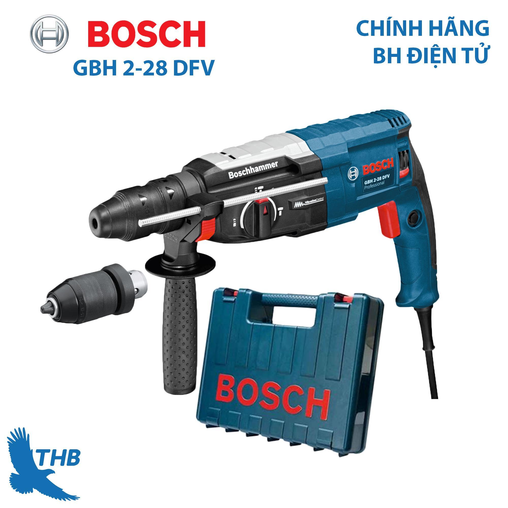 Máy khoan bê tông Máy khoan búa Bosch GBH 2-28 DFV Công suất 850W Mũi khoan búa 28mm Bảo hành điện tử 12 tháng