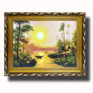 Tranh treo tường - Con Sông Quê Hương - Tranh Minh Hiền (KHUNG GỖ - 60 x 70cm) thumbnail