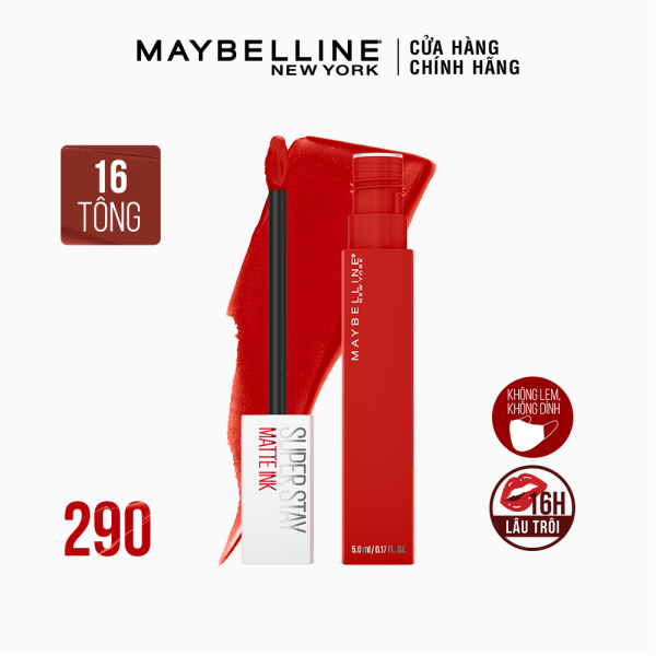 Son Kem Lì 16h Lâu Trôi Maybelline New York Super Stay Matte Ink City Edition Lipstick 5ml nhập khẩu