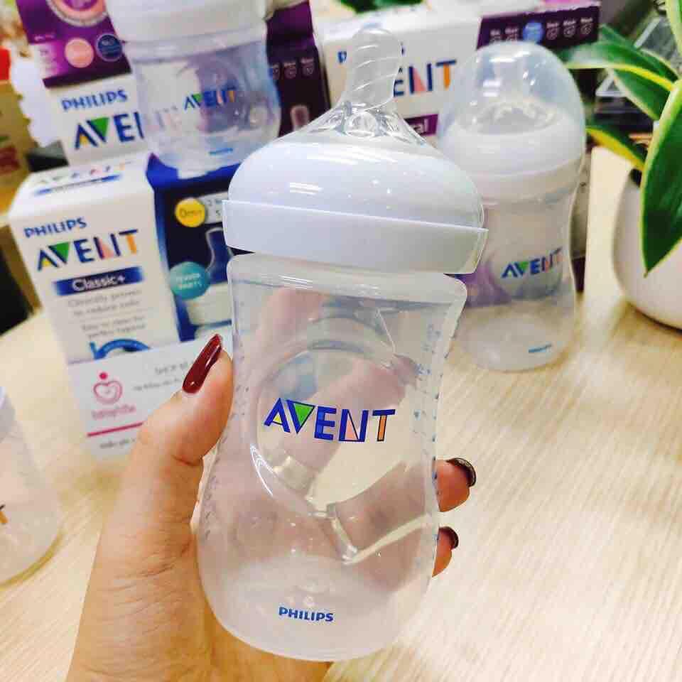Bình sữa Avent Natural 260ml núm xoắn siêu mềm