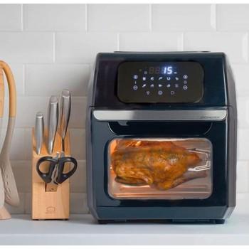 Lò Nướng Chân Không Lock&Lock chính hãng 12 Lít EJF696BLK có màn hình Led cảm ứng sang trọng, kính cường lực bền bỉ trong suốt có thể nhìn thức ăn đang được chế biến, chống dính tốt,dung tích to - Bảo hành 12 tháng - Hàng chính hang