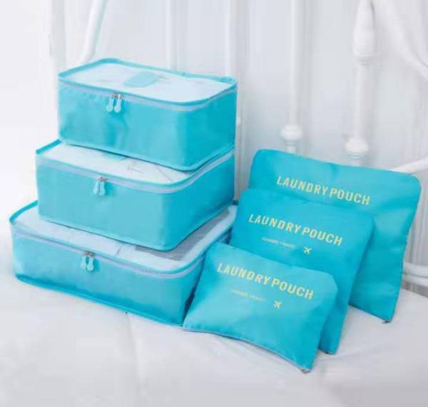 Set 6 túi đựng đồ khi đi du lịch, phù hợp dùng trong vali để chia ngăn và bảo quản đồ đạc, chất liệu bền chắc và ứng dụng nhiều mục đích, sét 6 túi du lịch chống thấm, sét 6 túi du lịch tiện ích, túi đựng đồ đi du lịch