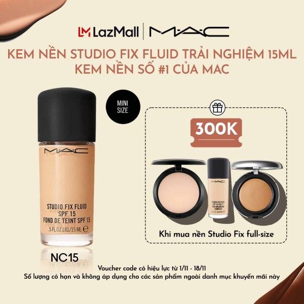 Kem nền lâu trôi 24h MAC Studio Fix Fluid SPF 15 Foundation 15ml