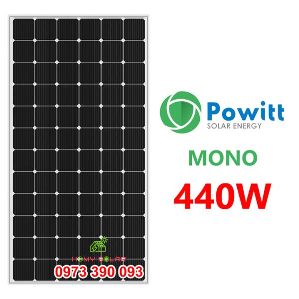 TẤM PIN NĂNG LƯỢNG MẶT TRỜI MONO 440W POWITT