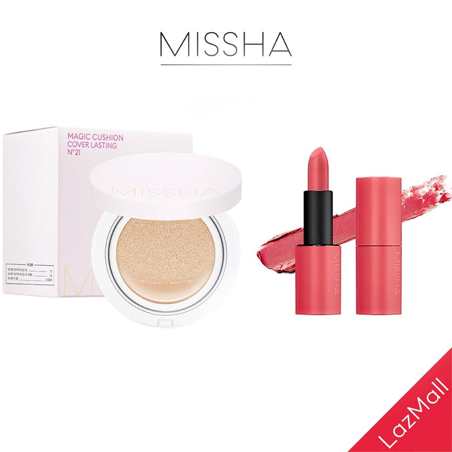 [COMBO] Son Lì MISSHA Dare Rouge 3.5g + Cushion Missha M Magic Cushion Cover Lasting SPF50+/PA++ 15g tốt nhất